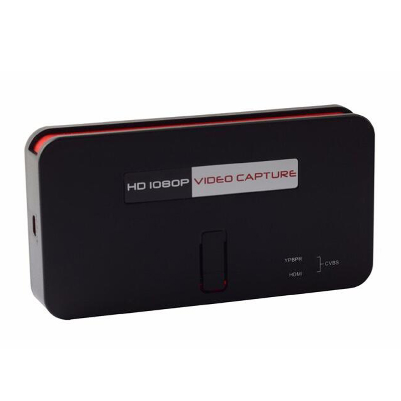 Live streaming function hdmi video card capture, convert HDMI/YPbPr to USB Flash Disk or SD Card directly, Free shipping