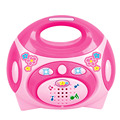 Crianças educacional simulação rosa elétrica máquina de rádio toys crianças pretend play toys