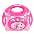Niños educativo simulación rosa eléctrico de radio máquina toys niños pretend play toys