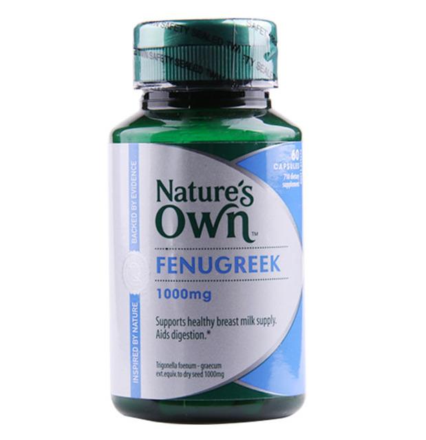 PRÓPRIA natureza s Fenugreek 1000 mg suporta a oferta de leite materno Ajuda a digestão saudável 60 cápsulas
