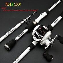 TIASCFR カーボンファイバー伸縮釣竿 1.8 メートル 2.1 メートル 2.4 メートルポータブルスピニング釣竿ポール旅行海のボート鋳造