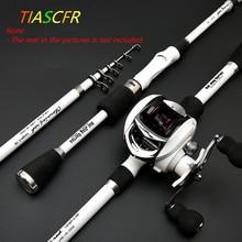 TIASCFR Fiber de carbone télescopique canne à pêche 1.8M 2.1M 2.4M Portable filature canne à pêche pôle voyage mer bateau roche coulée tige