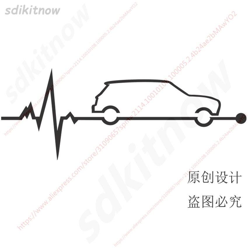 2019 custom Heart Beats Car Decal Sticker Styling Windows