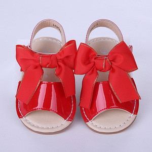 Image 3 - Pettigirl ฤดูร้อนเด็กผู้หญิงรองเท้าแตะรองเท้าหนังไมโครไฟเบอร์ Bowknot Beach รองเท้าเด็กขนาด (ไม่มีกล่องรองเท้า)