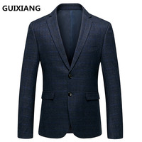 2018 Spring British style Blazer Men Casual Male wool Blazers Men's Blazer Slim Fit coats classics business jacket XF059