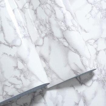 30cm*100cm White Gray Granite  Marble Gloss Self Adhesive furniture Vinyl Decor Film Counter Kitchen Home Decals Wall Stickers granito branco com cinza