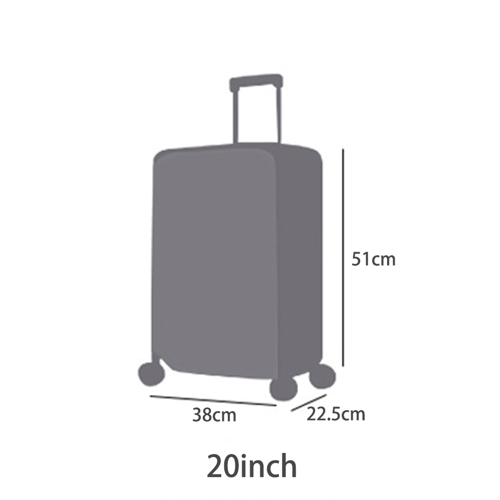 Travel Waterproof PVC Thickening Transparent Luggage Cover Size 20, 22, 24, 26, 28  Dustproof Protective Suitcase Cover#15