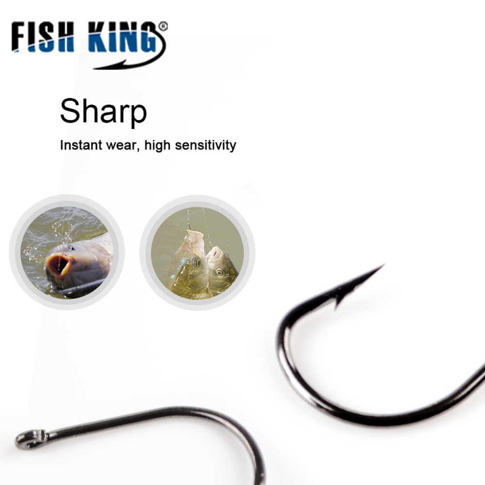 الأسماك الملك 50 قطعة/الوحدة تومارو الصيد هوك مع حلقة 3 #-12 # الشائكة هوك شبوط المغذية Anzol fishhawk تهزهز هوك من اليابان