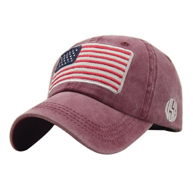 USA Flag Lavato Berretto da baseball Uomo Donna Denim lettera Del Cappello di Osso Ricamo in America Hip Hop Trucker Cap 2