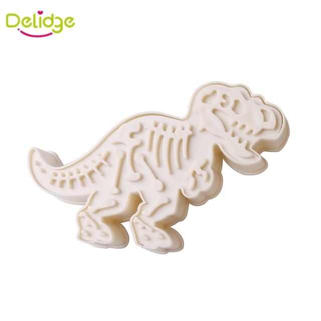 Delidge 1 pz Dinosauro Stampi Per Biscotti di Plastica Diversi Cutter di Forma di Biscotto FAI DA TE di Cottura Strumento di Decorazione Della Torta Del Biscotto Strumento di Taglio