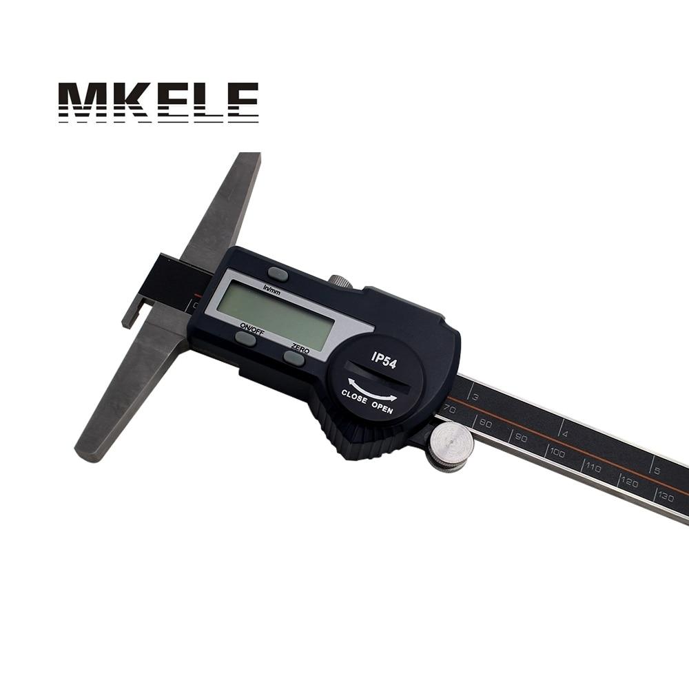 0-150mm Single Hook Depth numeral Display Vernier Caliper High precision IP54 Waterproof Stainless Steel vernier caliper 150mm high precision fine analysis wear