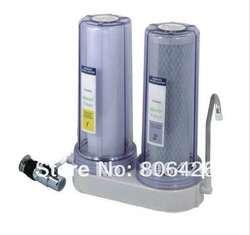 Прямые питьевой кран очиститель воды/кухонный фильтр для воды с прозрачной крышкой + углерода и UF фильтр картридж универсальный разъем