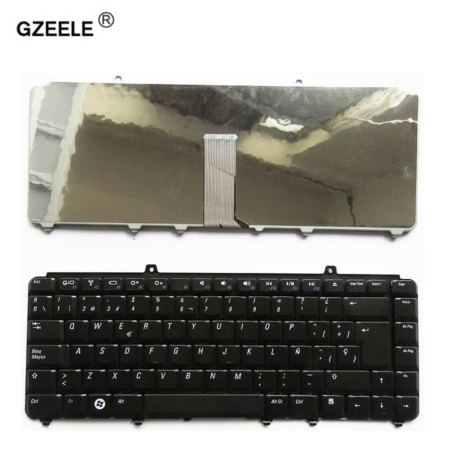 GZEELE NEW SP Keyboard For Dell Inspiron 1400 1520 1521 1525 1526 1540 1545 1420 1500 Spanish Teclado Laptop / Notebook QWERTY