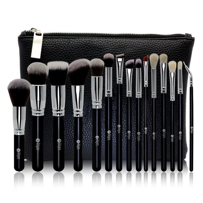 Professional 15pcs Makeup Brushes Set Make Up Brush Tools Cosmetic Kits Pencil Kabuki Shadow Concealer Contour