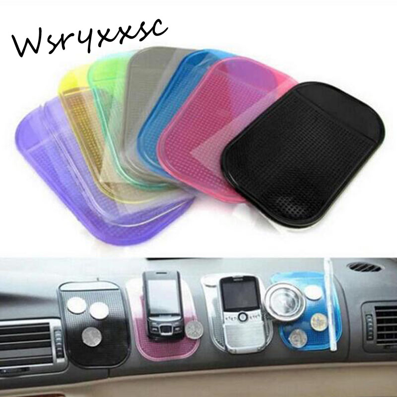 1PCS 7 color Automobiles Interior Accessories for Mobile Phone mp3mp4 Pad GPS Anti Slip Car Sticky Mat Car sticker