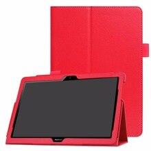 Ultra Thin Litchi PU Del Soporte Del Cuero Funda Protector de la Piel T3 10 AGS-L09 AGS-L03 cubierta Para Huawei MediaPad 9.6 pulgadas Tablet