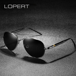 LOPERT HD Polarized Sunglasses Men Classic Brand Designer Driving Glasses Male High Guality Sun Glasses For Men UV400