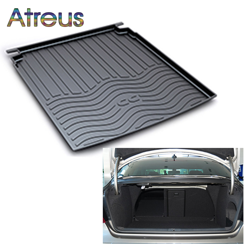 Atreus Car Rear Trunk Floor Mat Durable Carpet For Volkswagen VW CC 2010 2011 2012 2013 2014 2015 2016 2017 2018 Anti-slip mat fit for volkswagen vw tiguan rear trunk scuff plate stainless steel 2010 2011 2012 2013 tiguan car styling auto accessories