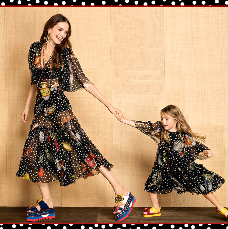 Wave point printing silk chiffon fabric summer elegant dress silk fabric perspective pure silk fabric wholesale