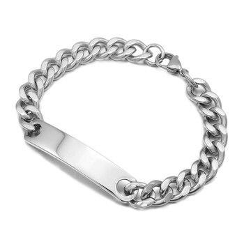 e5c80ec067d1 CHIMDOU de acero inoxidable pulsera de identificación para los hombres las  mujeres 2018 cadena de moda de joyería de brazalete 4 colores al por mayor  ...