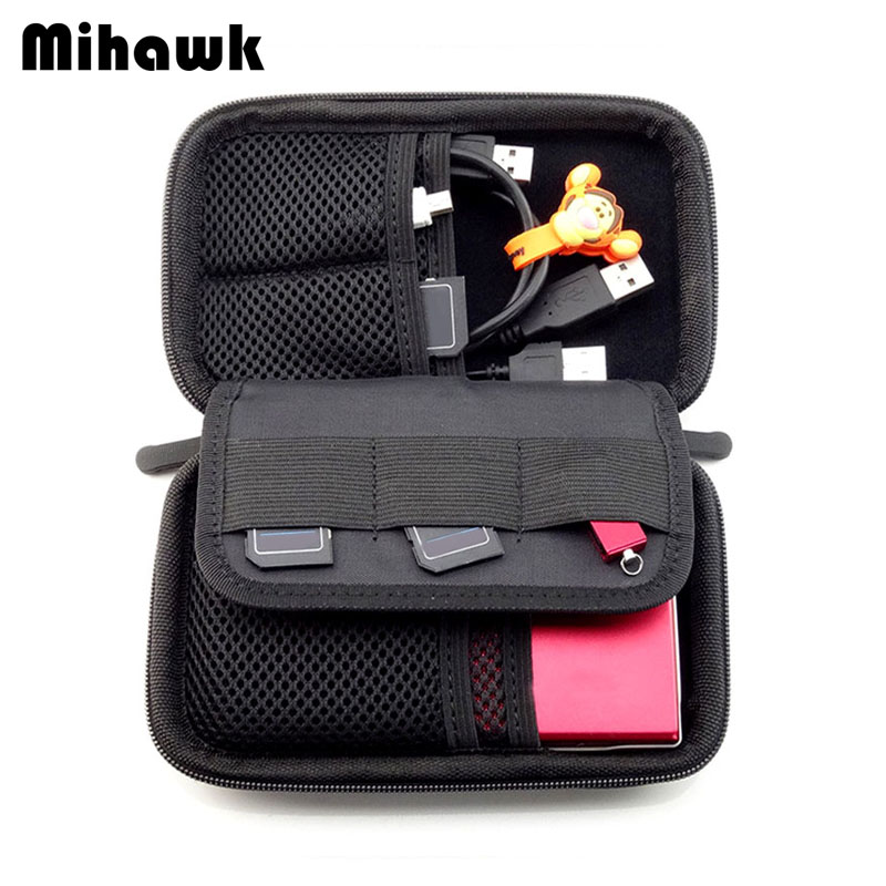 Mihawk Case Accessories Pouch Travel Package Digital-Bag Earphone Collation-Pack Shockproof-Holder
