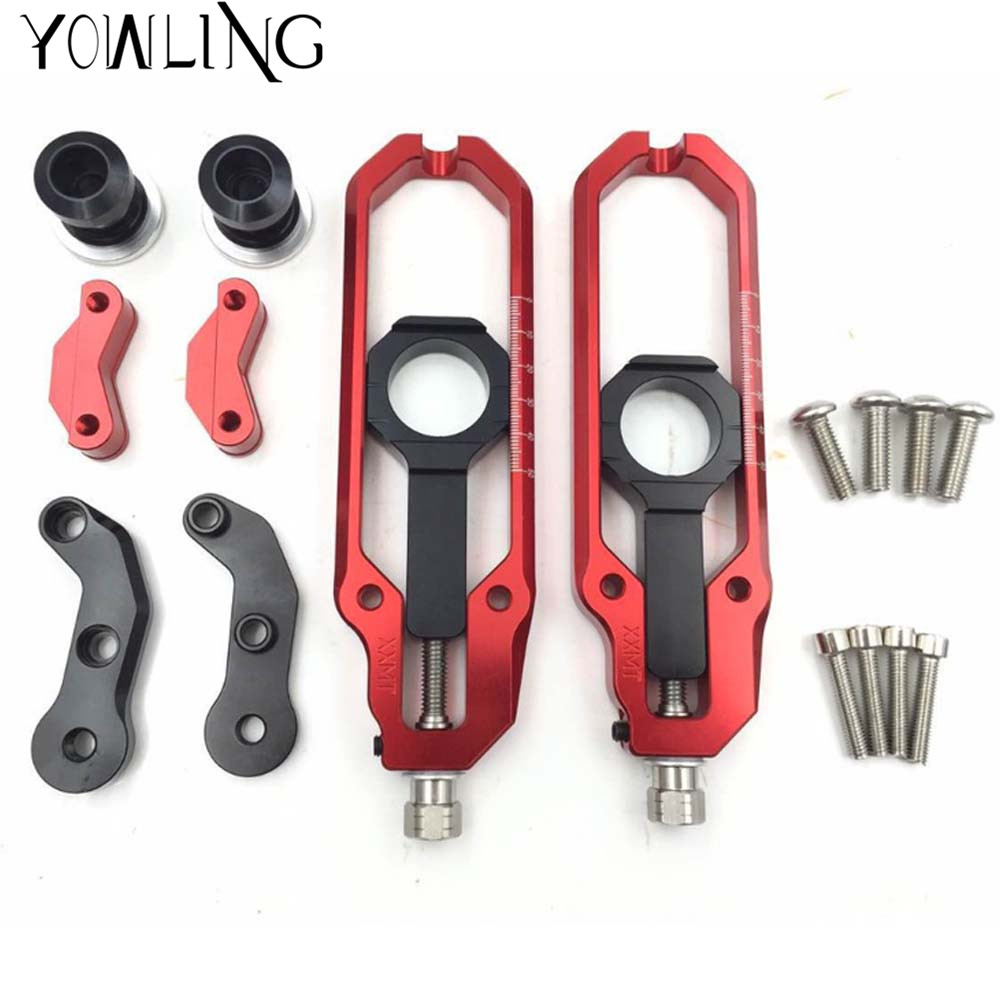 Motorcycle Rear Axle Spindle Chain Adjuster Blocks chain adjuster tensioners For YAMAHA T-MAX530 TMAX530 TMAX 530 2013 14 15 16