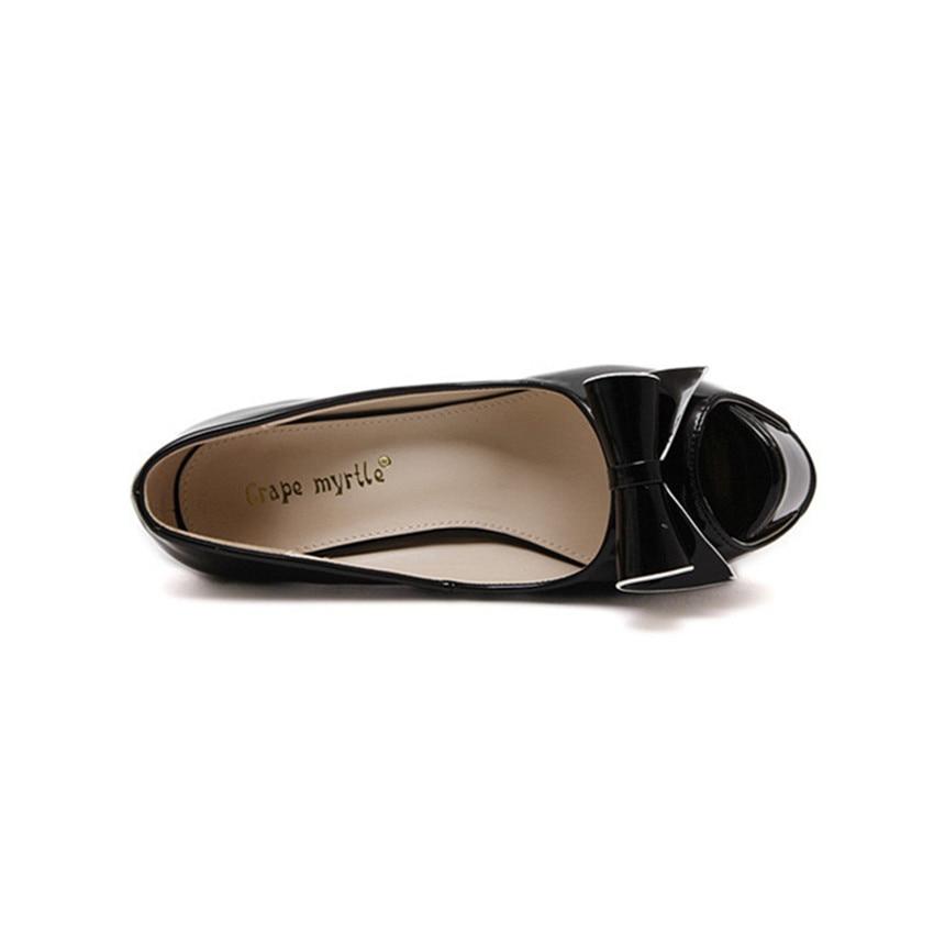 Automne Nl090 Plate Chaussures Mariage 2017 Femmes Pompes Chaude Noir Haute De 13 Élégant forme Talons Mince Femme Black Cm white Parti Bowtie A435jLqR