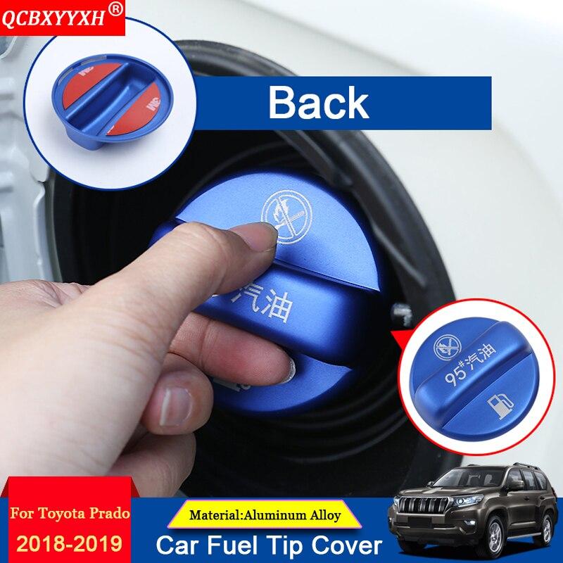 QCBXYYXH 1 pièces embouts de carburant de voiture en alliage d'aluminium décoration de couverture accessoires extérieurs Auto adaptés pour Toyota Prado 2010-2018