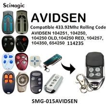 AVIDSEN 114253 104250 104251 รีโมทคอนโทรล 433mhz rolling code AVIDSEN 104250 เก่าสีแดง 104257 104350 654250 โรงรถ command เครื่องส่งสัญญาณ