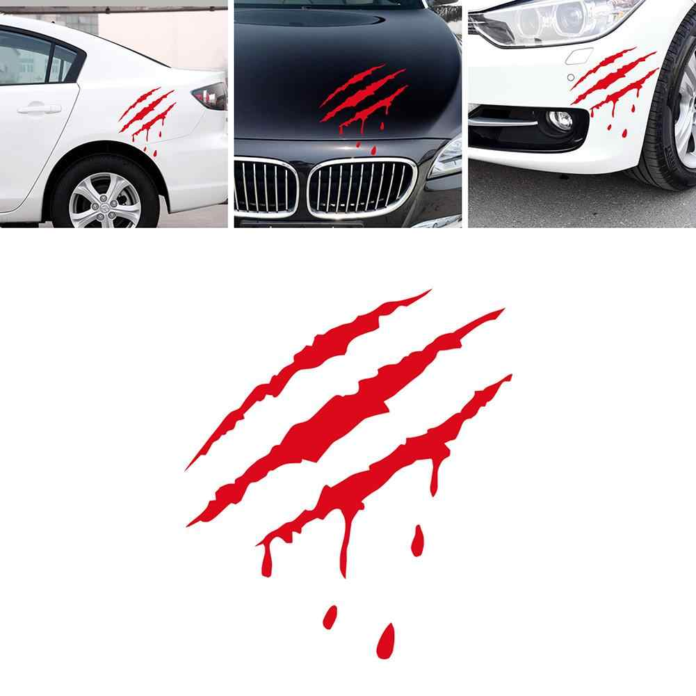 Car styling reflective monster claw mark scratch bloody sticker auto vinyl decal