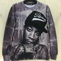 Fashion geek style portrait Wiz Khalifa print men/women 3D sweatshirt personality pattern  hood high street rock costume tops