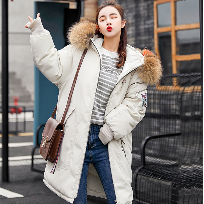 Parkas Hooded Warm Real Raccoon Fur Thicken Woman Down Jacket Winter Coat Women Cotton Coats Female Snow Wear 1