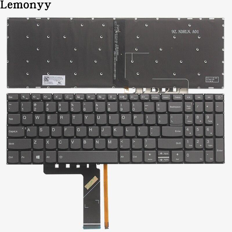 NEW US Keyboard For Lenovo IdeaPad 520-15 520-15IKB 320S-15 320-15ISK 320S-15IKBR US Laptop  Keyboard Black With Backlight