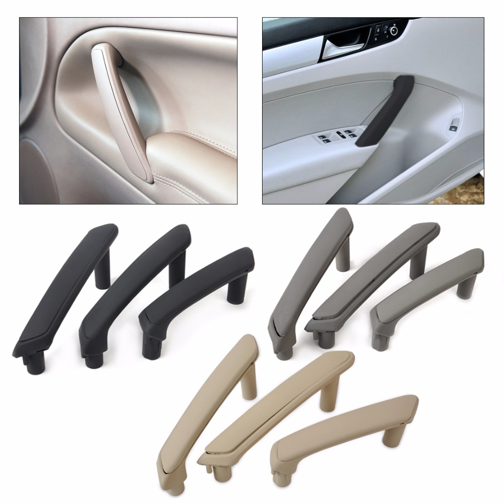 DWCX 3B4867371 3B4867372 Interior Door Pull Grab Handle With Trim Cover For VW Passat B5 1998 1999 2000 2001 2002 2003 2004 2005 стоимость