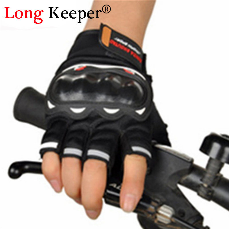 Long Keeper Fashion Driving Gloves Professional Bicycle Motorcycle fingerless luva for Men Protective Gear guantes tacticos
