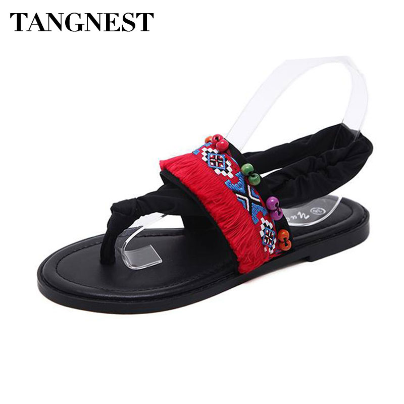 Tangnest New Stretch Fabric Gladiator Sandals Women -6761