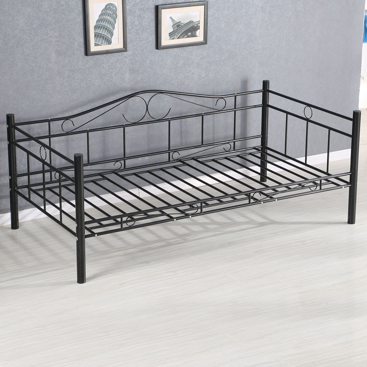 Giantex Twin Size Daybed Sofa Bed Bedroom Modern Metal Steel Frame Solid Support Guest Dorm Home Furniture Hw56068 In Beds From On