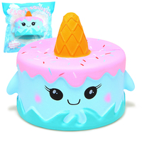 Jumbo Squishy Cute Whale Cake Squishies Super Slow Rising Cream Scented Original Package Phone Strap