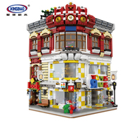 DHL 01006 5491Pcs New Creative MOC City Series The Toys and Bookstore Set legoing classic Building Blocks Bricks kids Toys Gift