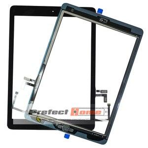 Image 2 - Iyi test edilmiş iPad Air1 dokunmatik ekran cam sayısallaştırıcı ve yapıştırıcı + ev flex kablo tamamlandı A1474 A1475 A1476