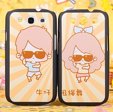 For samsung i9300 colored drawing mobile phone case emboss lovers cartoon 9308 shell protective case