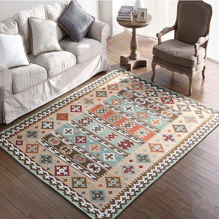 Ukuran besar kilim pola blending bedside carpet, gaya Amerika ruang - Tekstil rumah