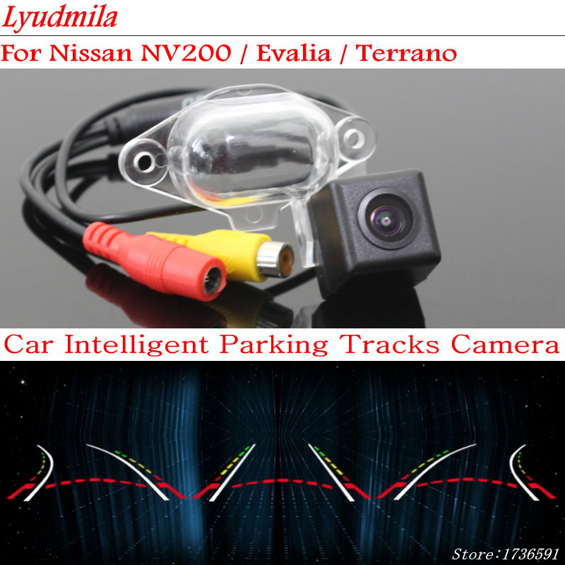 Lyudmila FOR Nissan NV200 / Evalia / Terrano Car Tracks Chip Camera / HD CCD Intelligent Dynamic Parking Car Rear View Camera for renault duster 2010 2014 smart tracks chip camera hd ccd intelligent dynamic parking car rear view camera