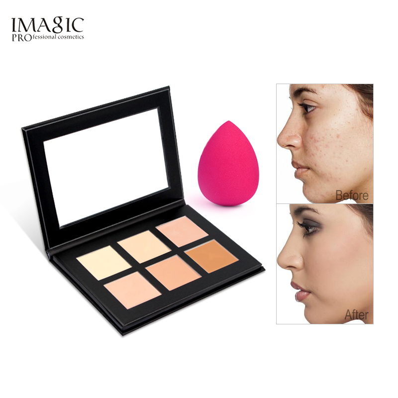 IMAGIC Cream Contour Palette Kit Pro 6 Colors Concealer Makeup Palette Concealer Face Primer for all skin types image