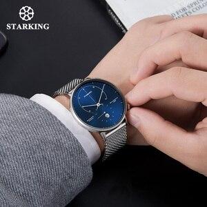 Image 5 - STARKING Automatic Watch Relogio Masculino Self wind 28800 Beats Mechanical Movement Wristwatch Men Steel Male Clock 5ATM AM0269