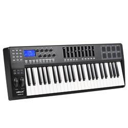 Panda49 49-chave usb midi teclado controlador 8 almofadas de tambor com cabo usb piano teclado midi controlador