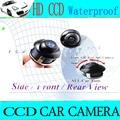 360 degree ángulo ajustable del revés del coche parking rearview trasera vista lateral frontal de la cámara impermeable granangular de copia de seguridad cvamera