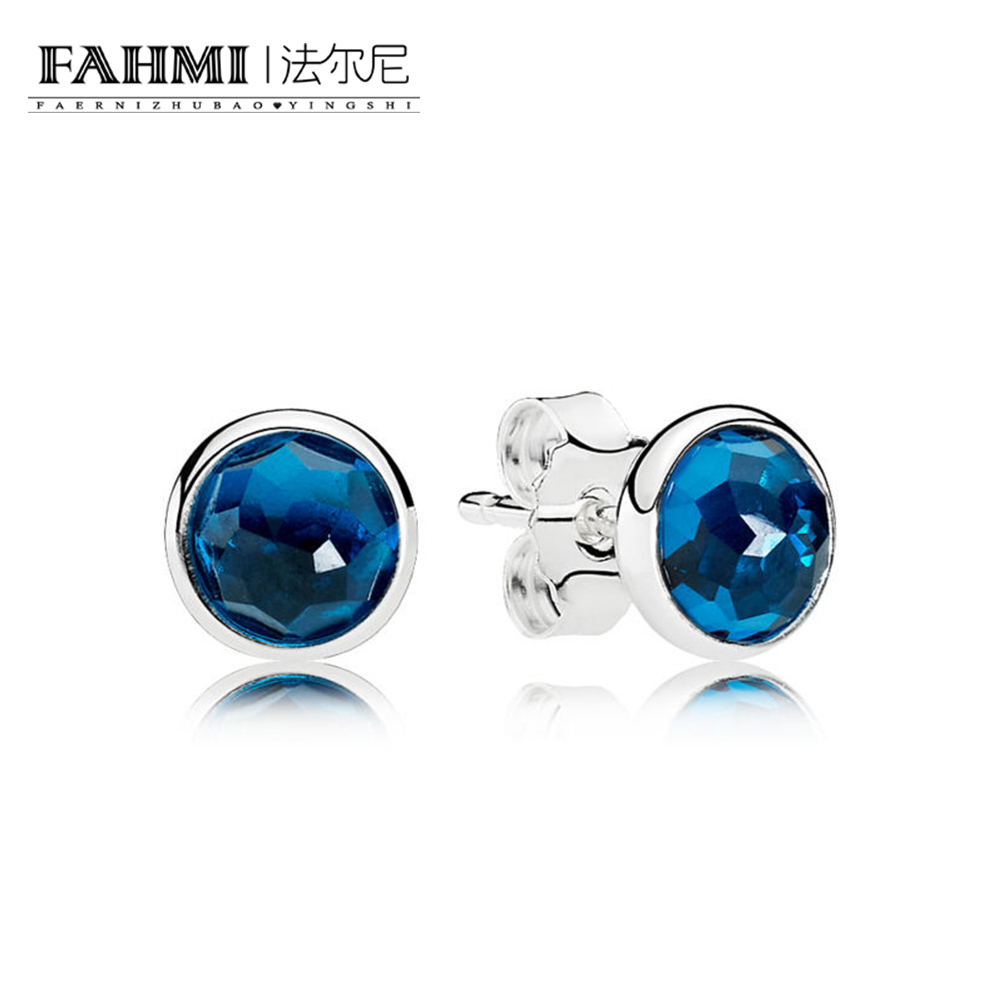 FAHMI 100% Sterling silver 1:1 Glamour 290738NLB DECEMBER DROPLETS EARRING Original Women wedding Fashion Jewelry 2018 0