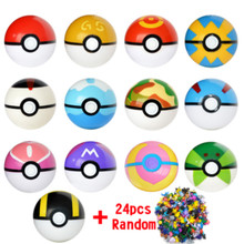 Childrens Toys 13 Pcs balls+24 Pcs Figures Japanese Movie&TV Action Figures Anime Toys Kids Birthdays Gifts  dropshipping