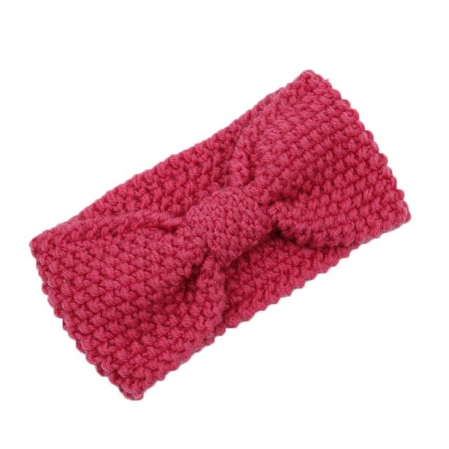 Dames Haak Boog Knoop Hoofdband Tulband Gebreide Hoofd Wrap Haarband